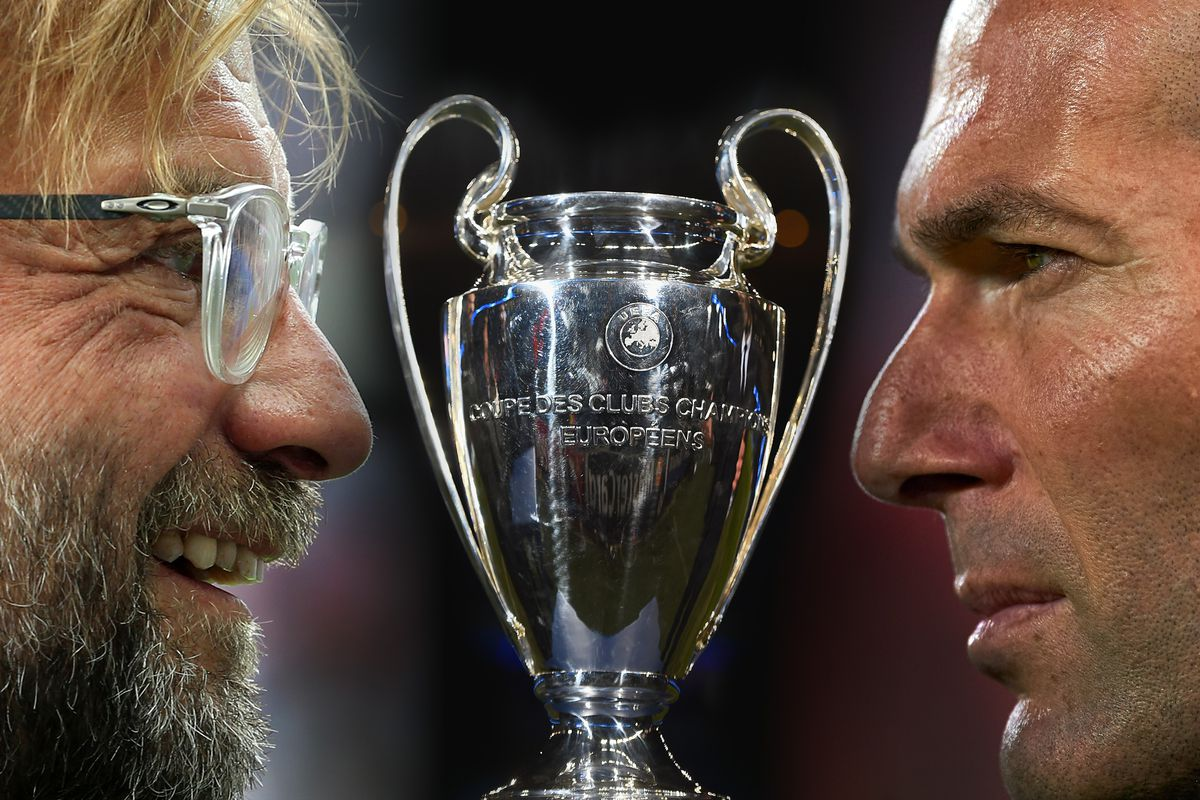 Juergen Klopp and Zinedine Zidane - Real Madrid v Liverpool - UEFA Champions League Final