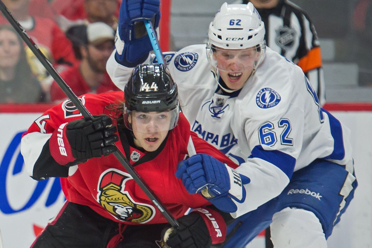 Pageau doesn't look like he's very happy about what's happening here.