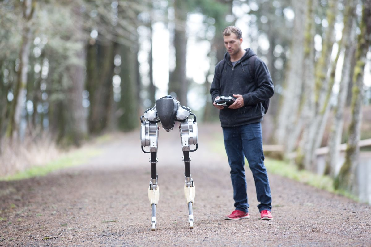 This two-legged robot hopes to one day deliver packages to your front door