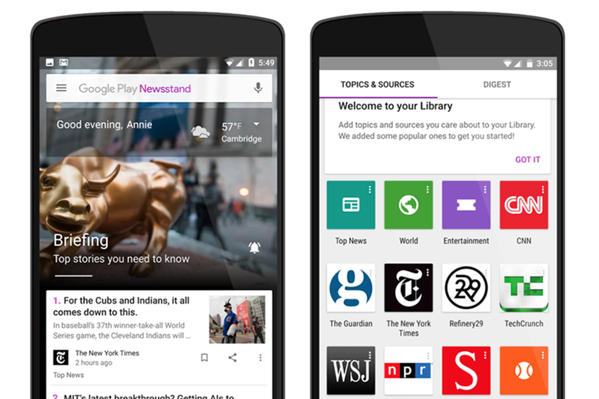 Google redesigns Play Newsstand and launches it on the web