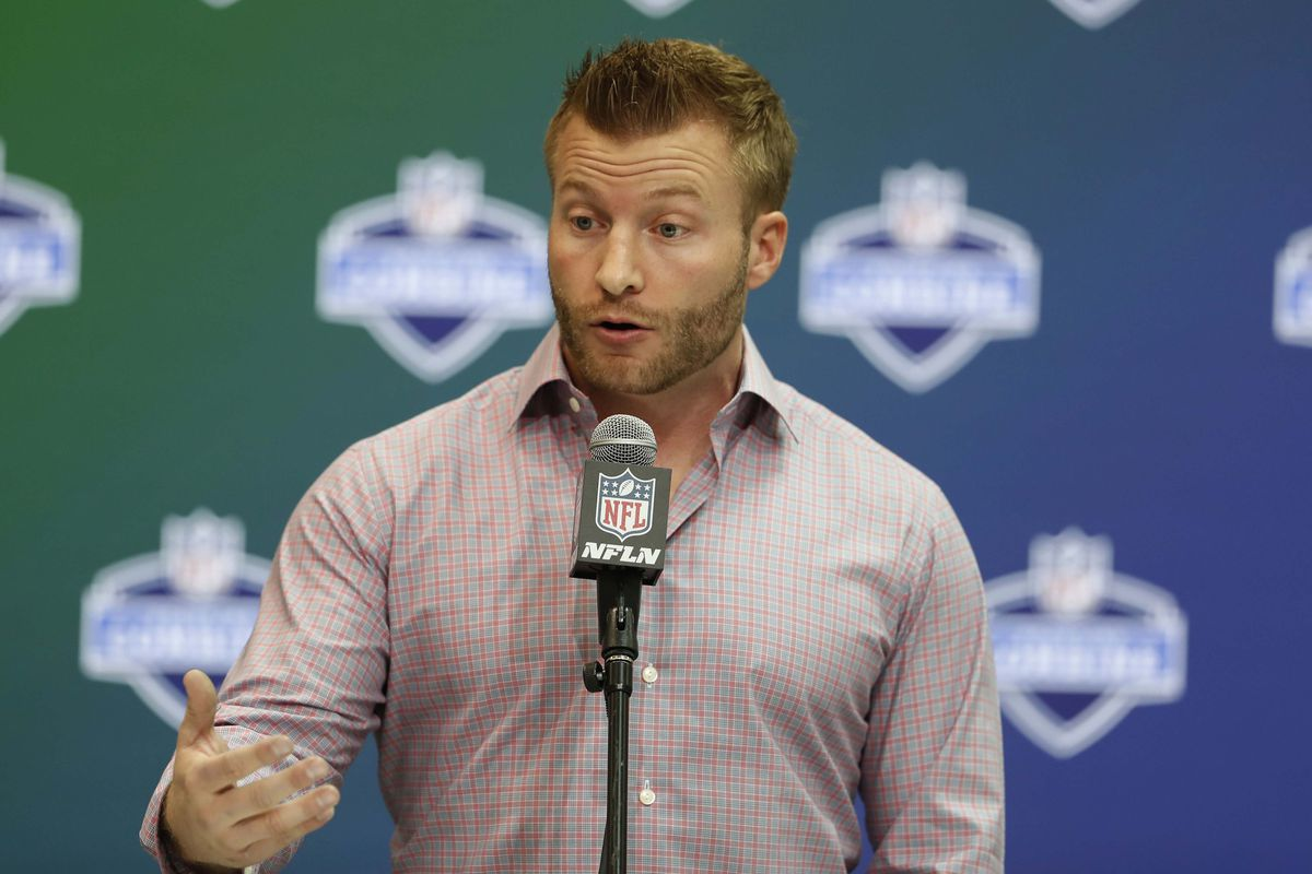 Los Angeles Rams HC Sean McVay at the 2017 NFL Scouting Combine