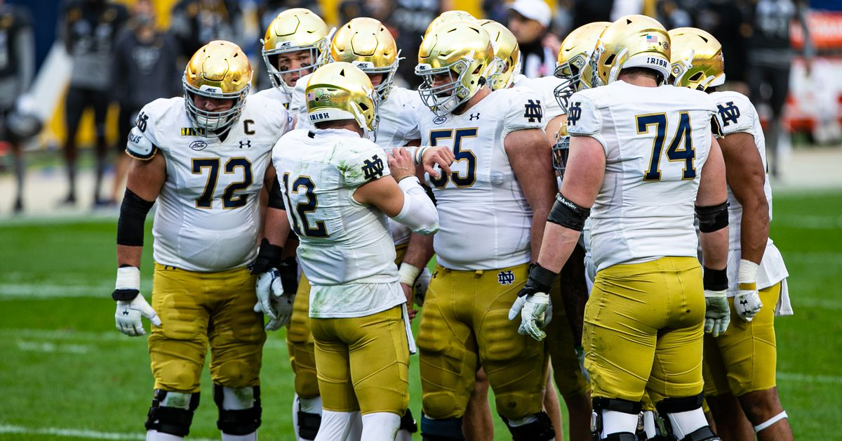 Notre Dame Football slides one spot to #4 in AP Top 25 and ...