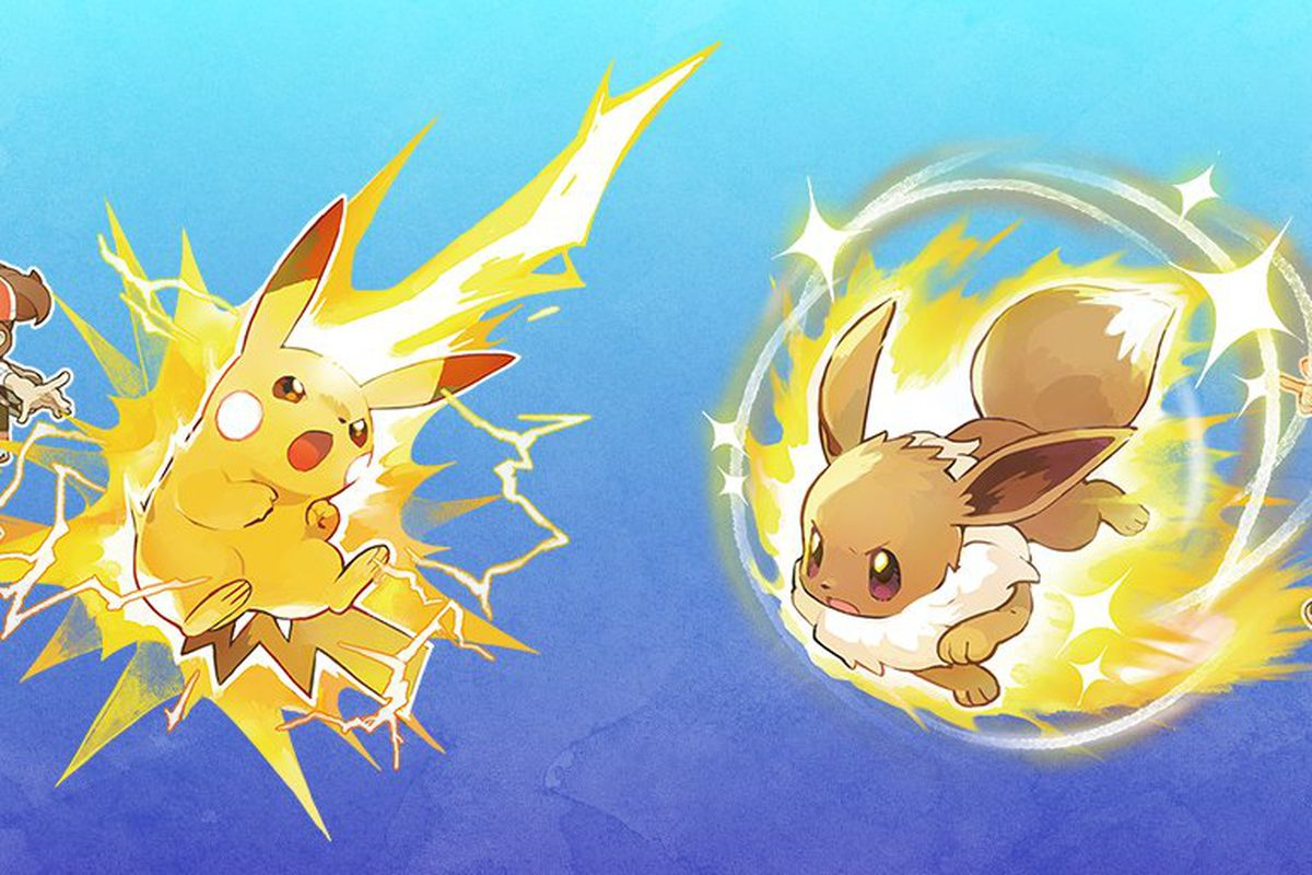 Pikachu and Eevee in Pokémon: Let's Go!