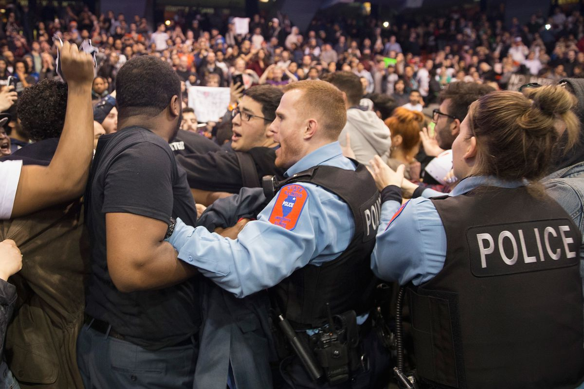 Trump Rally Postponed After Protestors Clash With Supporters