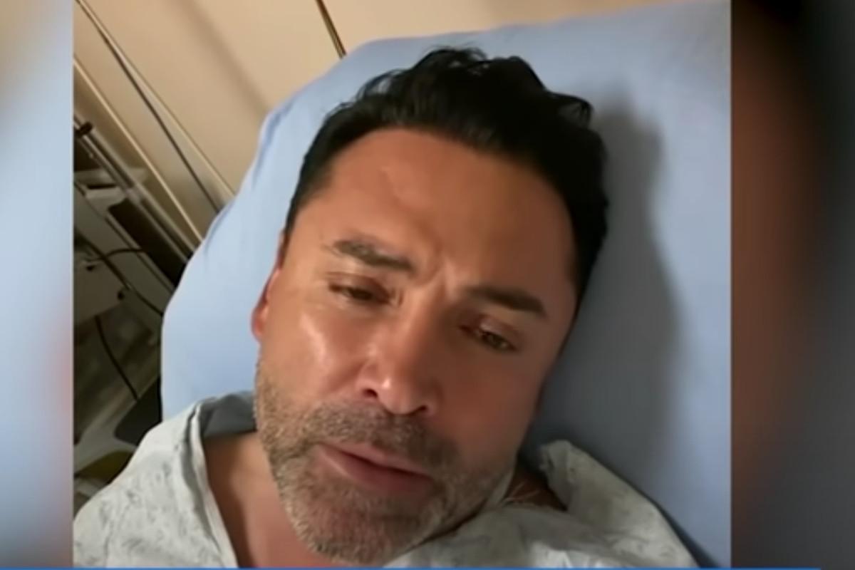 Oscar De La Hoya confirms his COVID-19 diagnosis from a hospital bed.