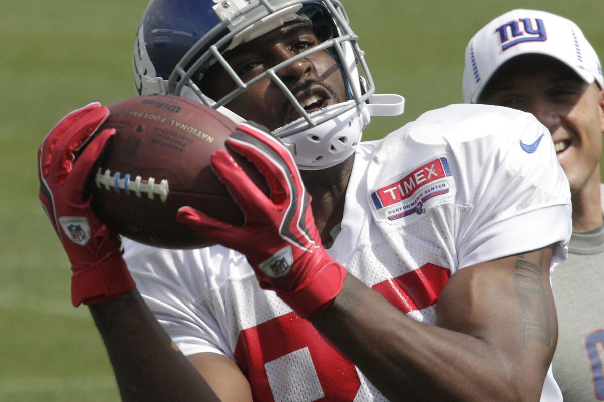 Hakeem Nicks of the Giants is a risky Fantasy Football play this week. Tim Farrell/THE STAR-LEDGER via US PRESSWIRE