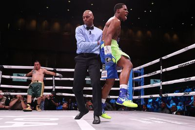 simpson matchroom - Haney scores monster KO over Moran in DAZN debut