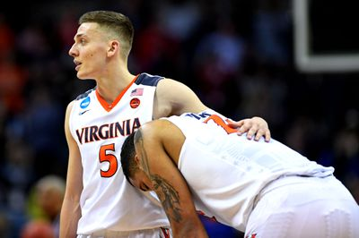 Kyle Guy and Isaiah Wilkins in the NCAA Tournament 2018.