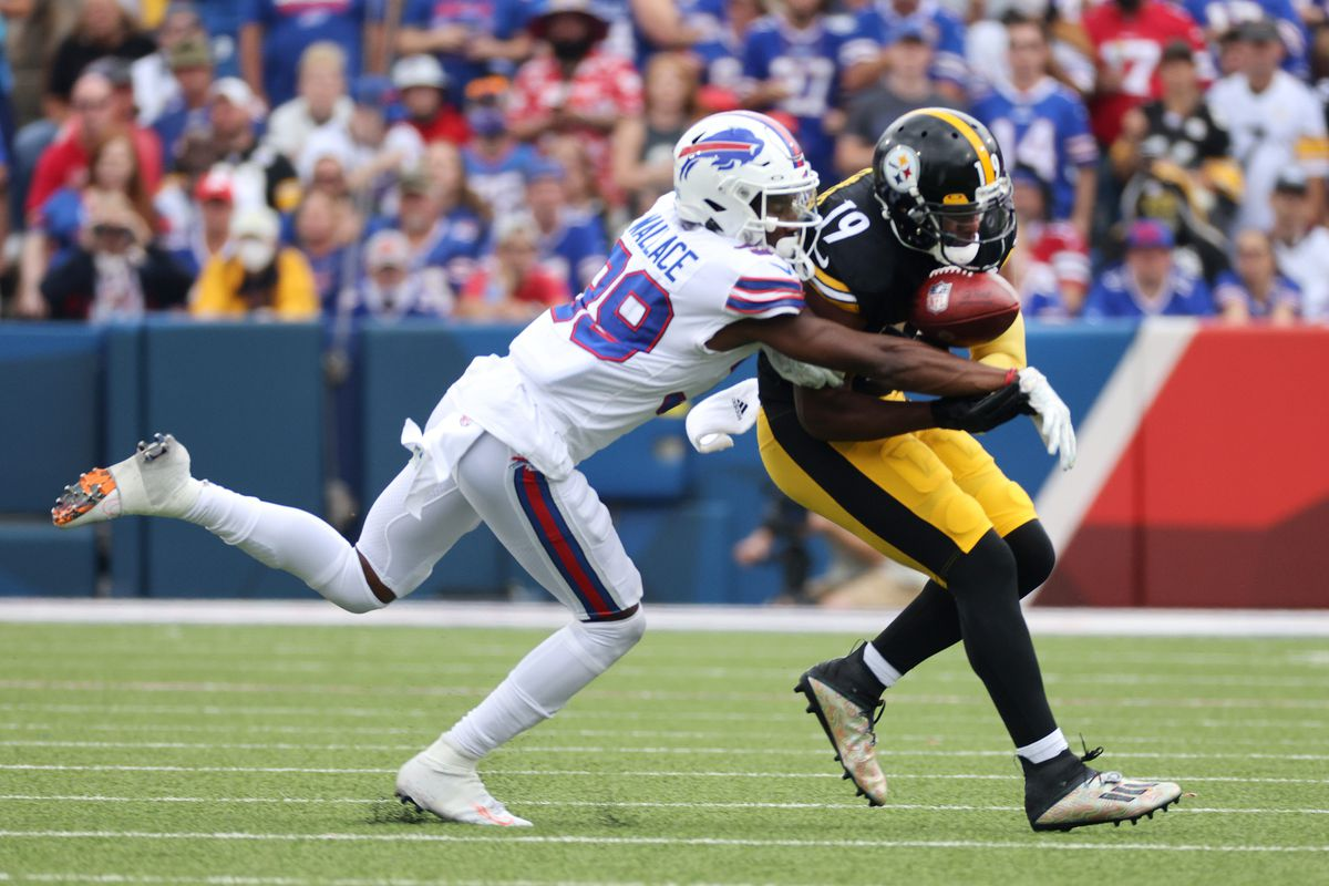 Bills Levi Wallace breaks up a pass intended for JuJu Smith-Schuster
