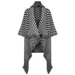 "<b>Topshop</b>, <a href=""http://us.topshop.com/en/tsus/product/clothing-70483/knitwear-70499/cardigans-70589/mini-pattern-blanket-coat-3179956?refinements=category~%5b209865%7c208638%5d&bi=1&ps=200"">$140</a>"