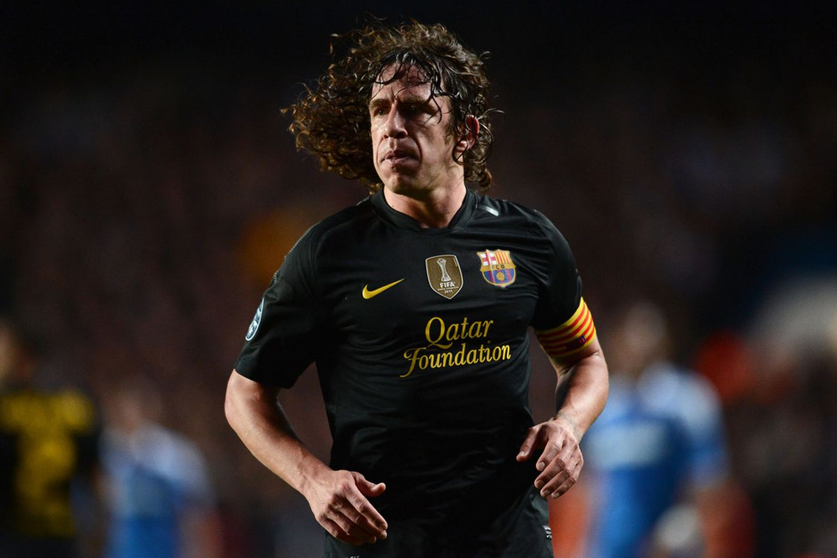 Puyol started to take some training drills with the team this morning.