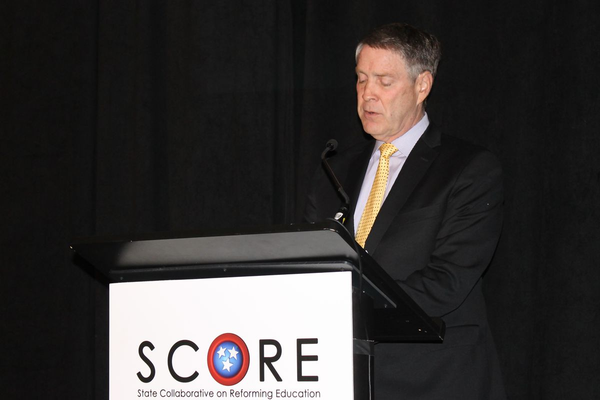 Former U.S. Sen. Bill Frist, founder and chairman of the State Collaborative on Reforming Education, speaks last year during the release of the group's 2015 report on the state of education in Tennessee.