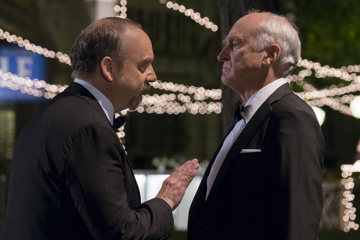 Still of two men talking in 'Billions'