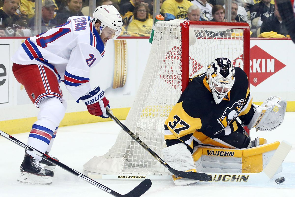 The New York Rangers won their Game Seven against the Flyers Wednesday  night and will face the Pittsburgh Penguins in the round of seven.