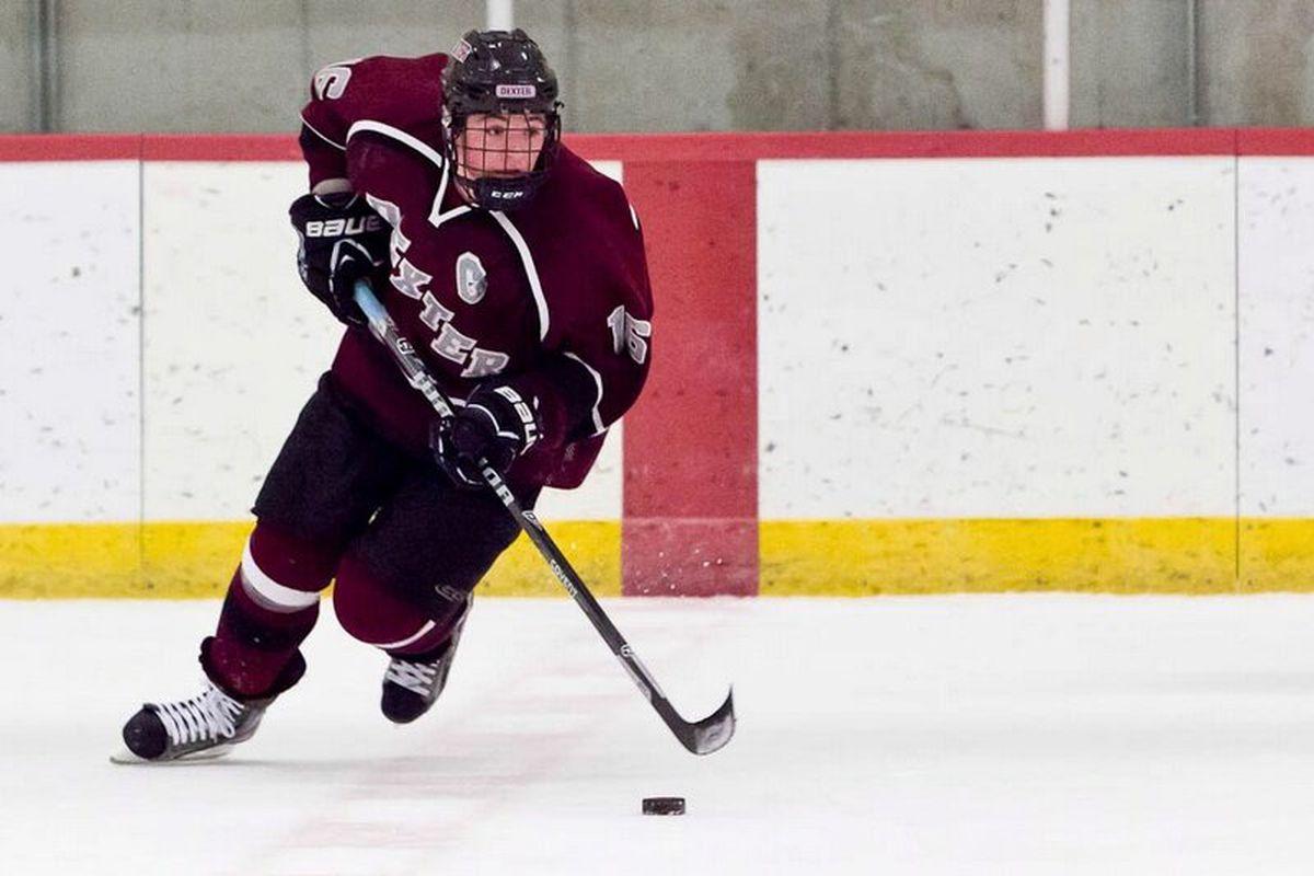Boston Bruins draft pick and Dexter senior Ryan Donato