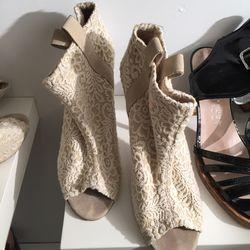 Lace heels, $50