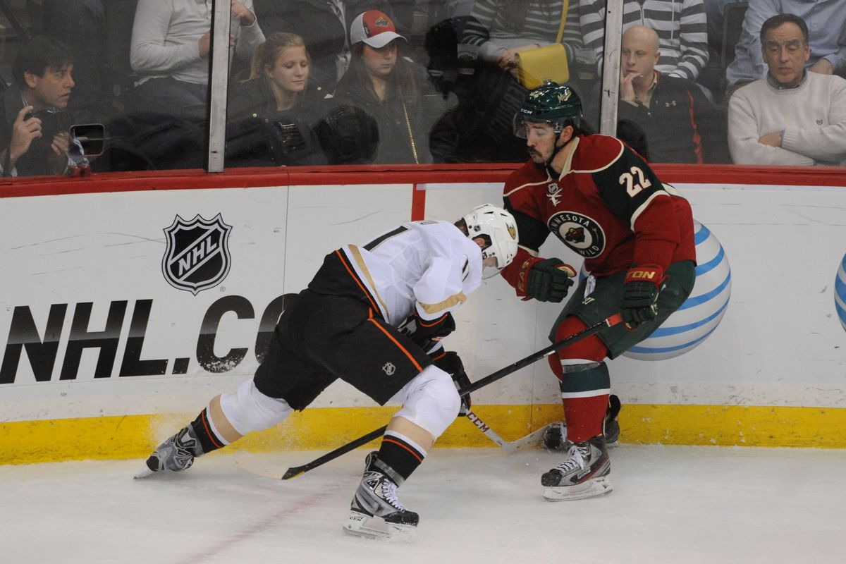 Here's a picture of the Wild not scoring. This happened a lot last night.