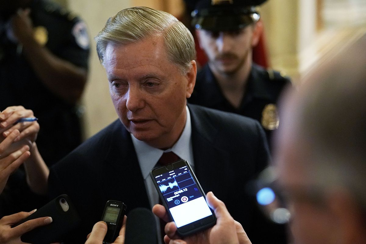 Sen. Lindsey Graham (R-SC), a staunch supporter for President Donald Trump, offered no pushback on the firing of Jeff Sessions as attorney general on November 7, 2018.