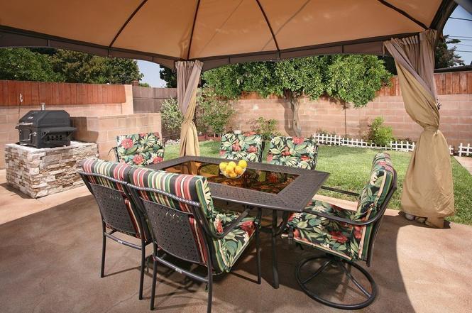 Backyard barbecue area