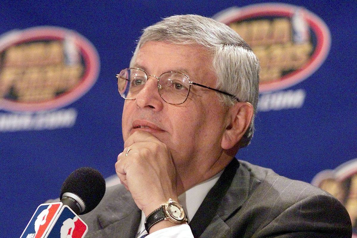 """NBA Commissioner David Stern delivers the """"State o"""