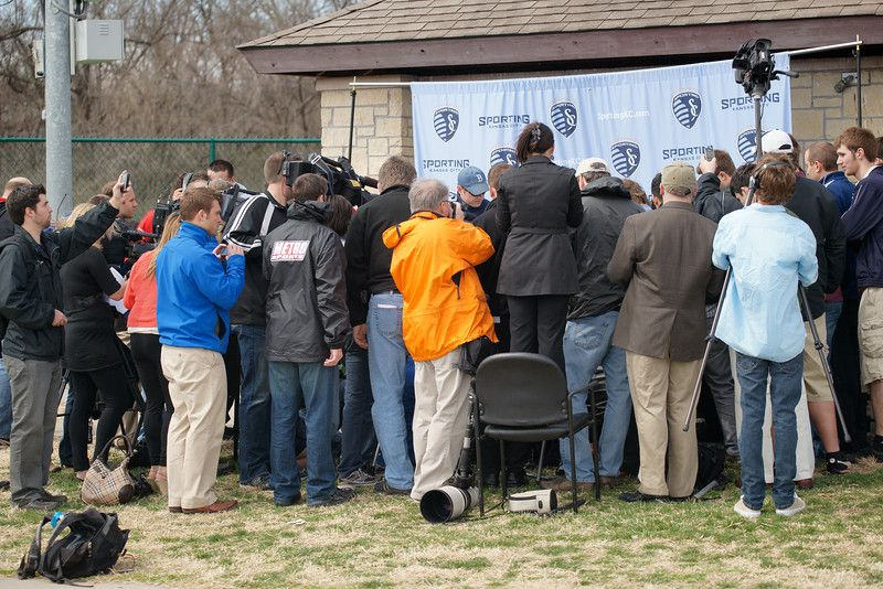 A lot of media showed up. - Thad Bell