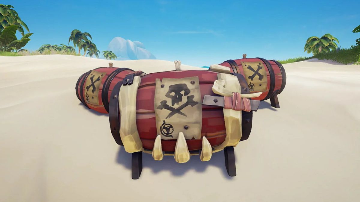 Image: Sea of Thieves - a collection of barrels