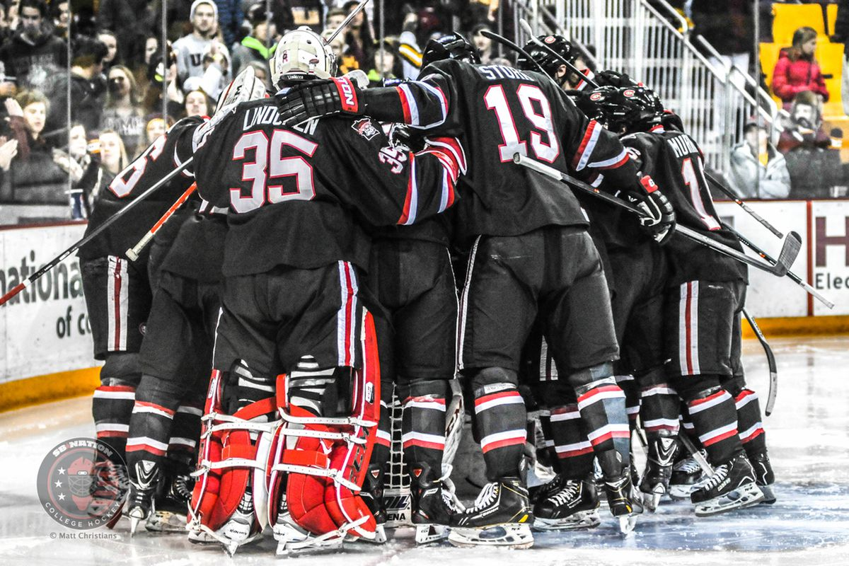 St. Cloud State Sits Atop the NCHC Standings | Photo Credit