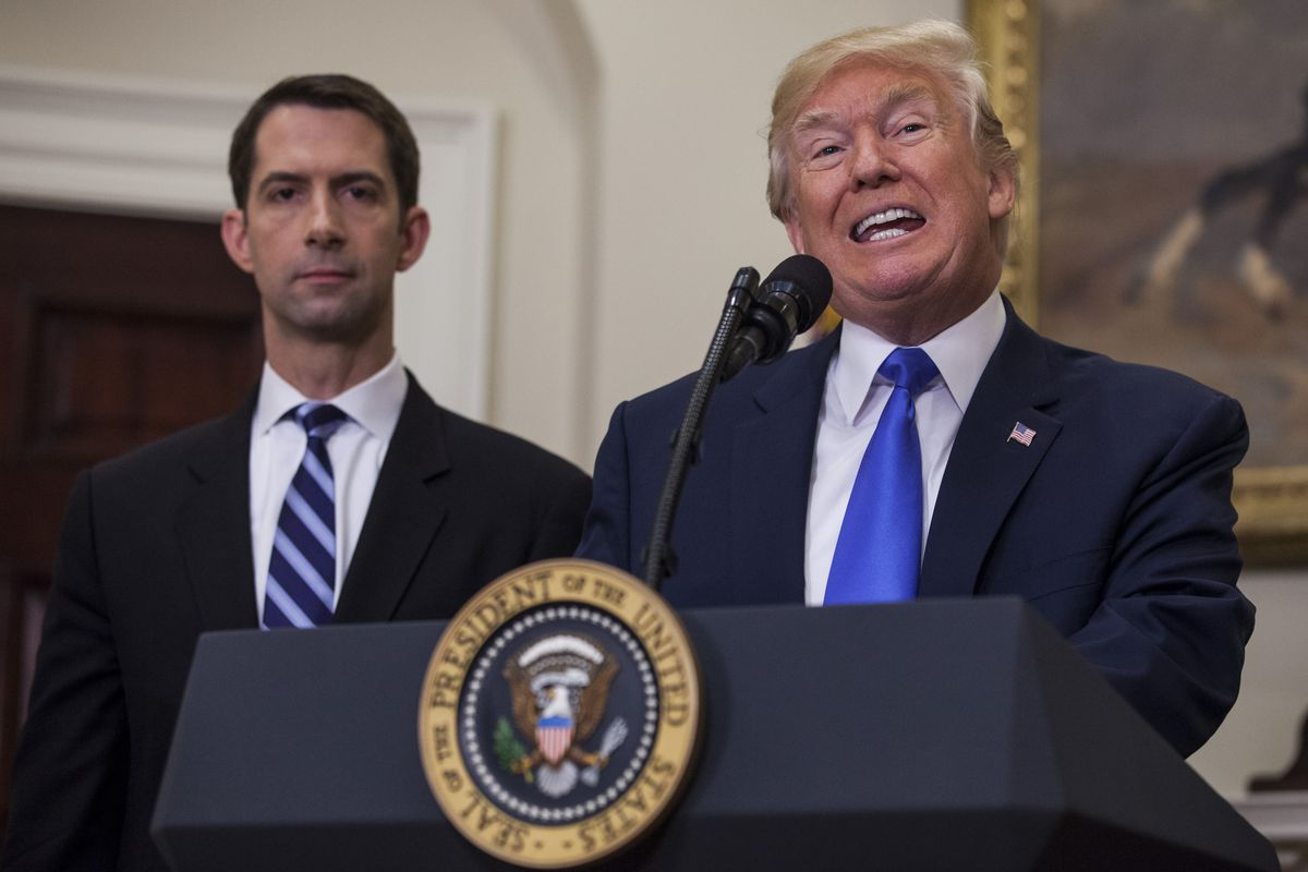 Tom Cotton was supposed to be CIA director  He isn't — and