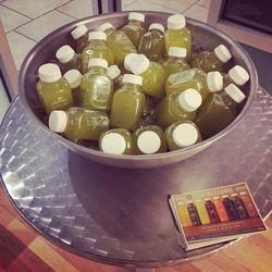 Our delicious reward for surviving 50 minutes of Long & Lean ass-kicking: Clover Juice's ice-cold beverages.