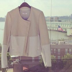 """<a href=""""http://instagram.com/p/ZlnMA6KoMW/"""">@helmutlang:</a> """"#MemorialDay Essential: the Husk Motion Leather Combo Jacket. Available @ 93 Mercer St. Call 212.242.3240"""""""
