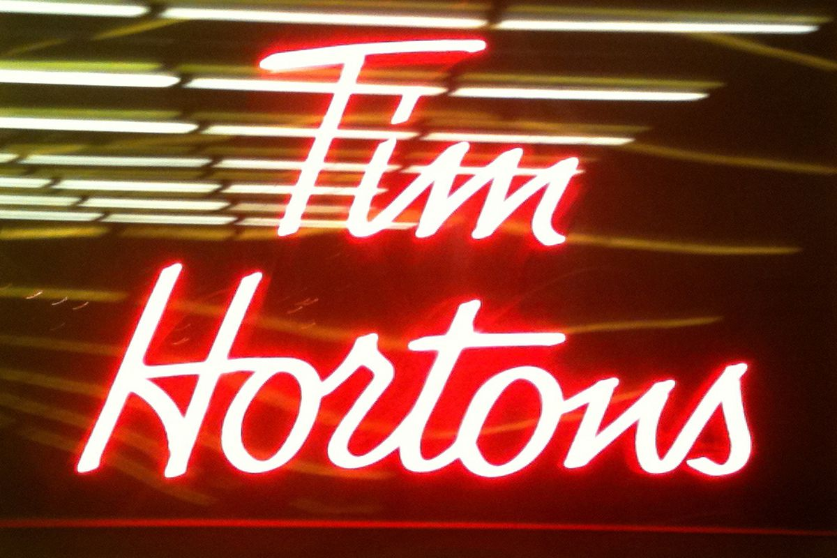 Tim Horton's in Montreal.  The neon draws you in.  The vibe keeps you in.