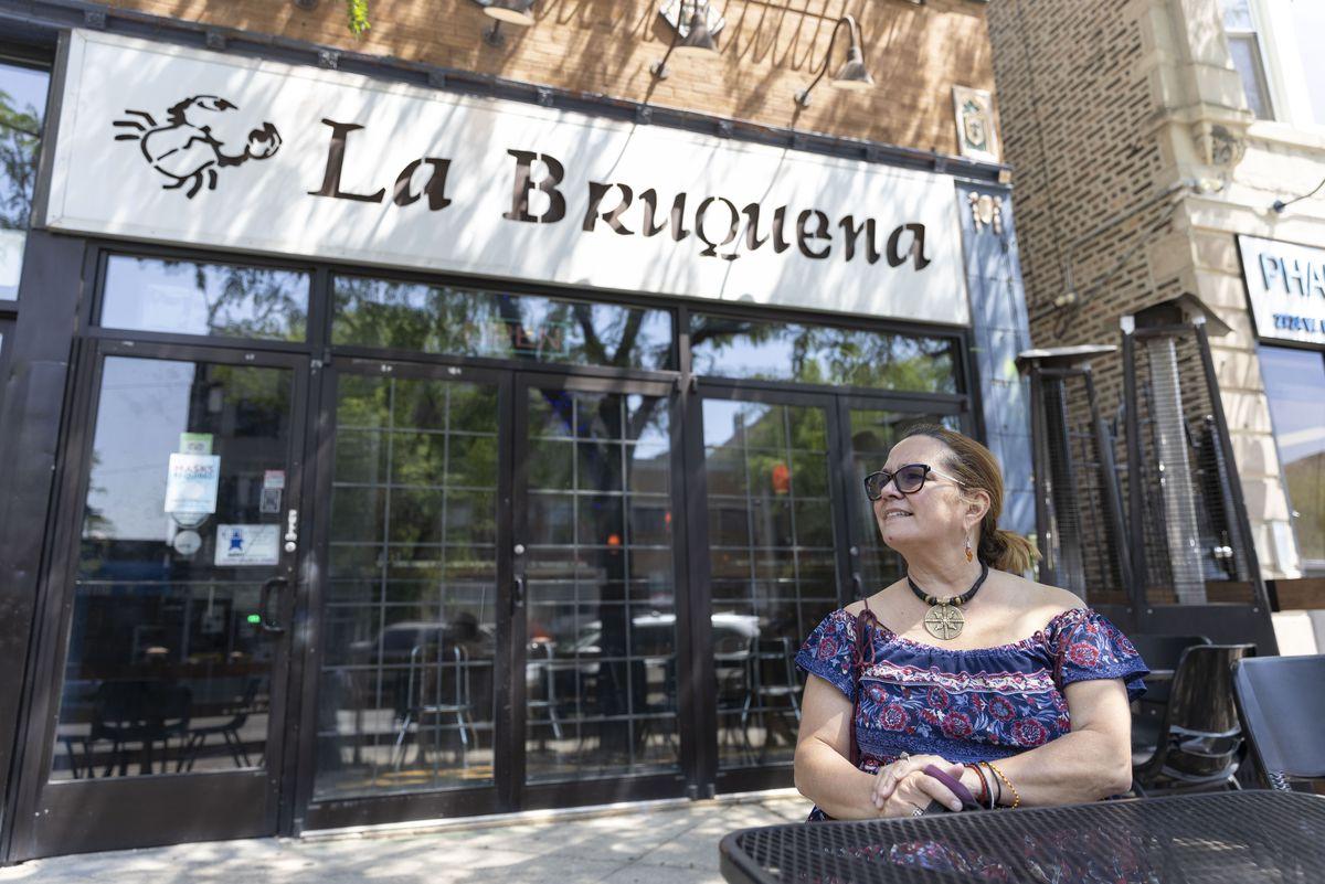 Owner Zoraida Rivera-Tanon at her restaurant La Bruquena, 2726 W. Division St. in Humboldt Park, Thursday, June 10, 2021.