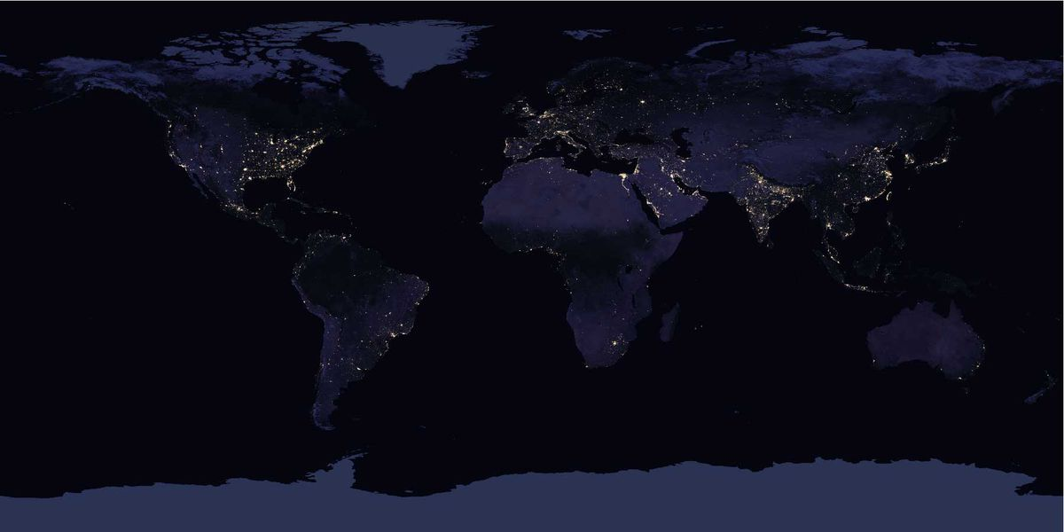 These incredible images of the world at night show how much it's