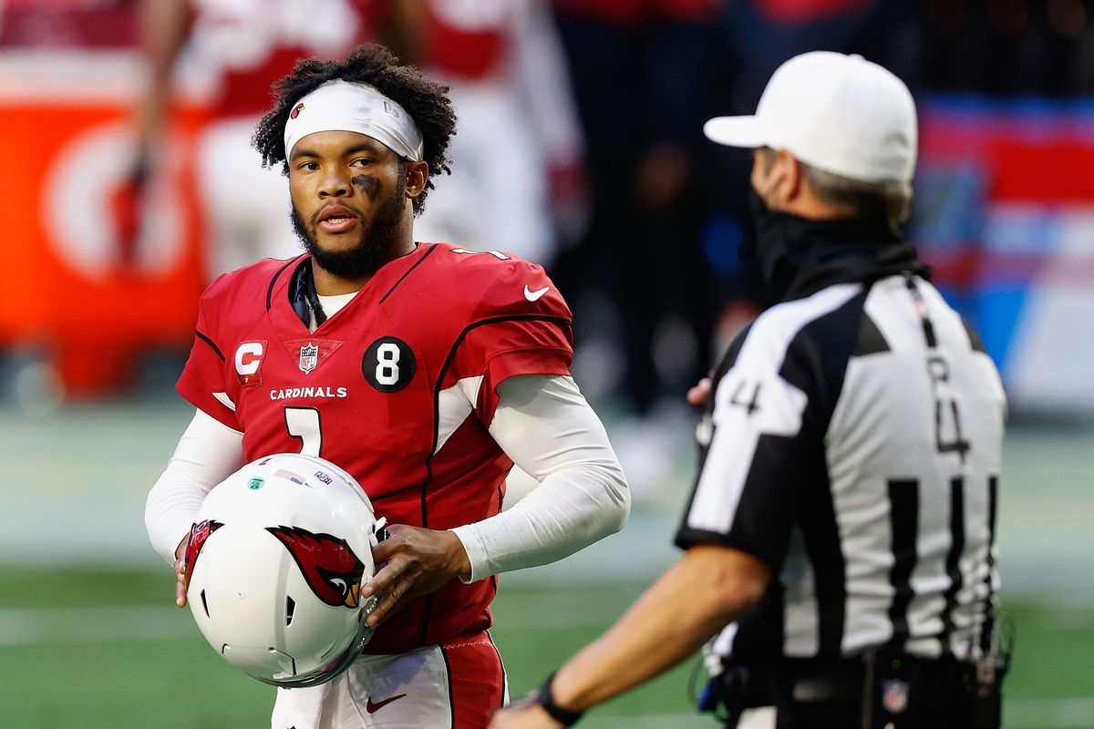 Quarterback Kyler Murray #1 of the Arizona Cardinals walks to the line during the NFL game against the Philadelphia Eagles at State Farm Stadium on December 20, 2020 in Glendale, Arizona. The Cardinals defeated the Eagles 33-26.