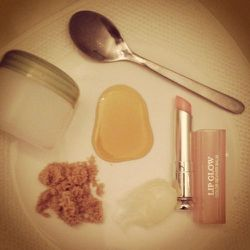 I make time to exfoliate my lips once a week: this is a must, especially given my love of bright red lips. It's important to keep everything super smooth. Easy recipe: a dollop of petroleum jelly, a sprinkle of brown sugar, and a drizzle of honey. I alway