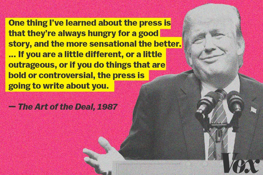 Trump write about the power of the media in 1987