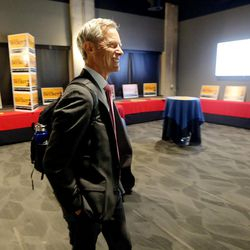 Salt Lake City Mayor Ralph Becker arrives at his election night party at Club 50 West in Salt Lake City on Tuesday, Nov. 3, 2015.