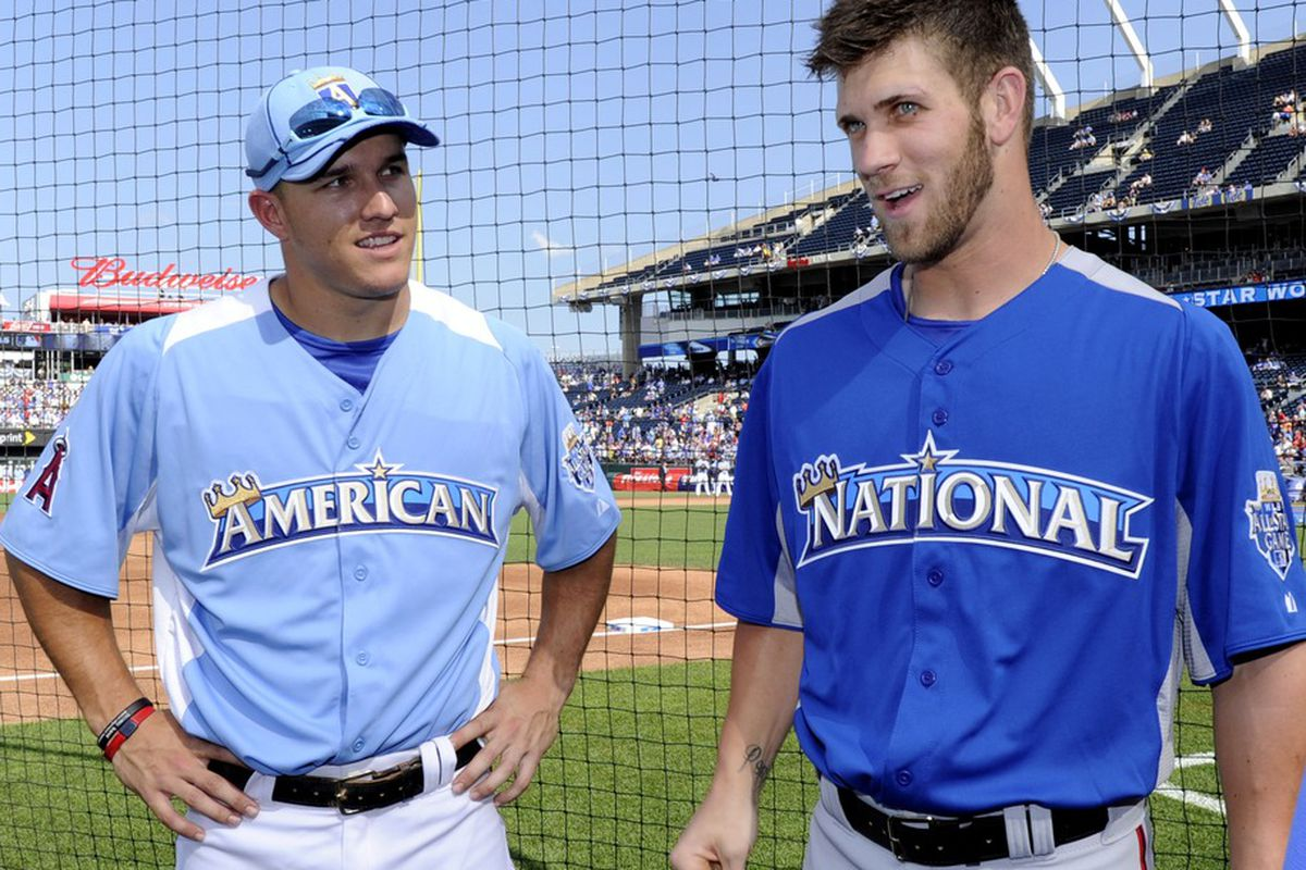 Mike Trout and Bryce Harper will forever be linked together.