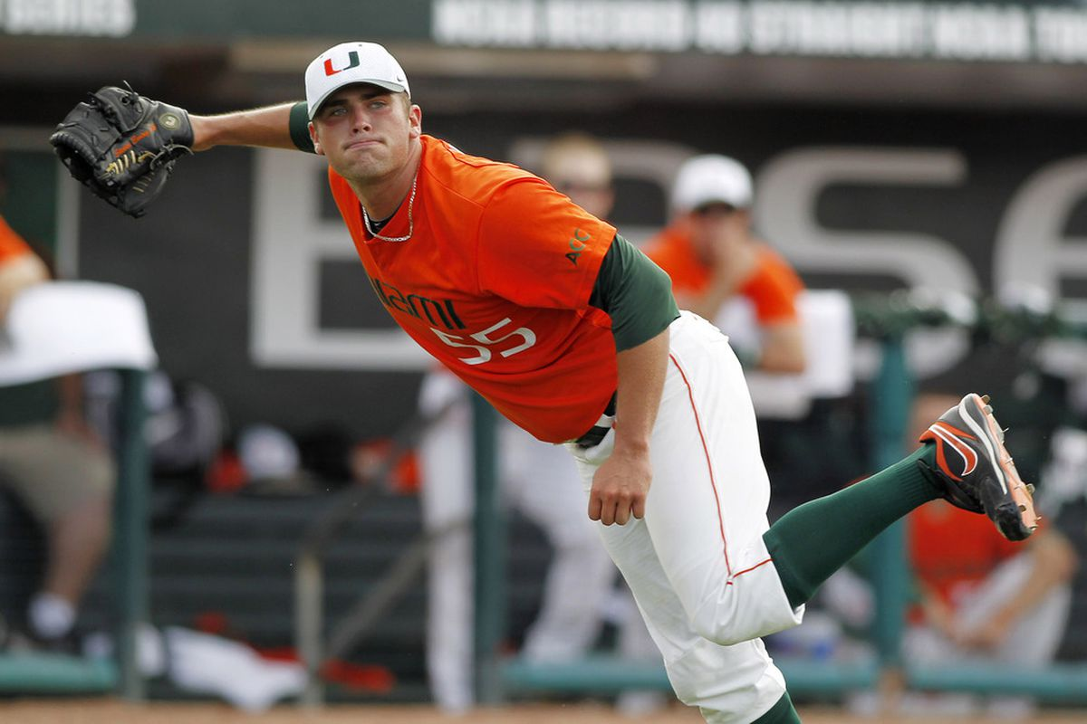 This is perhaps the most perfect picture of a Miami baseball player.