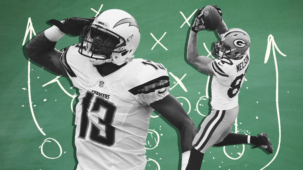 Los Angeles Chargers wide receiver Keenan Allen and Green Bay Packers wide receiver Jordy Nelson