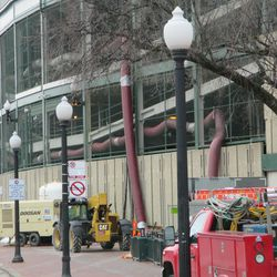 11:49 a.m. The south end of the ballpark, along Addison Street
