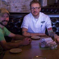 Mixologist Nate Shuman (left) with Executive Chef Zeb Stevenson