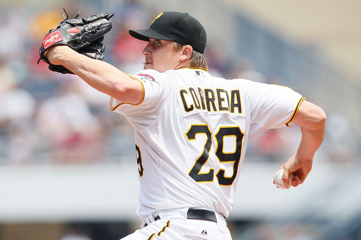 PITTSBURGH - JUNE 12:  Kevin Correia #29 of the Pittsburgh Pirates pitches against the New York Mets during the game on June 12, 2011 at PNC Park in Pittsburgh, Pennsylvania.  (Photo by Jared Wickerham/Getty Images)