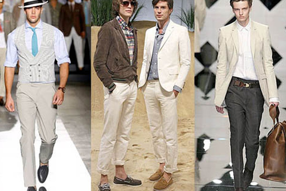 """Duh, a hot guy can make anything look good. But com'on, khaki? Image via <a href=""""http://nymag.com/daily/fashion/2010/05/new_shops_are_hard_at_work_cul.html"""">The Cut</a>."""