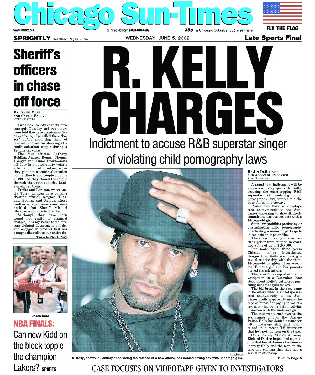 Front page of the Chicago Sun-Times on June 5, 2002.