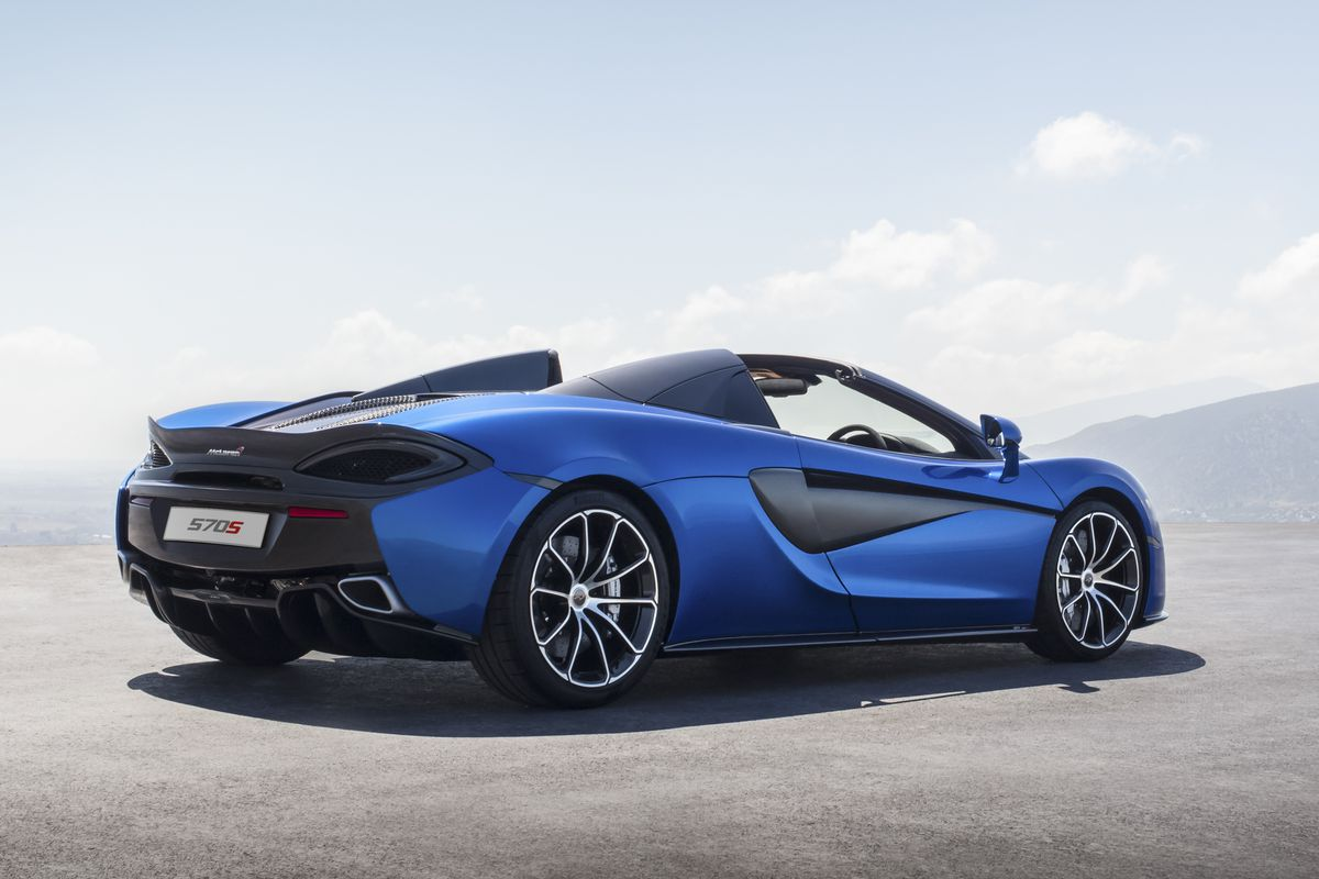 mclaren's new 570s spider is its 'most attainable' supercar - the verge