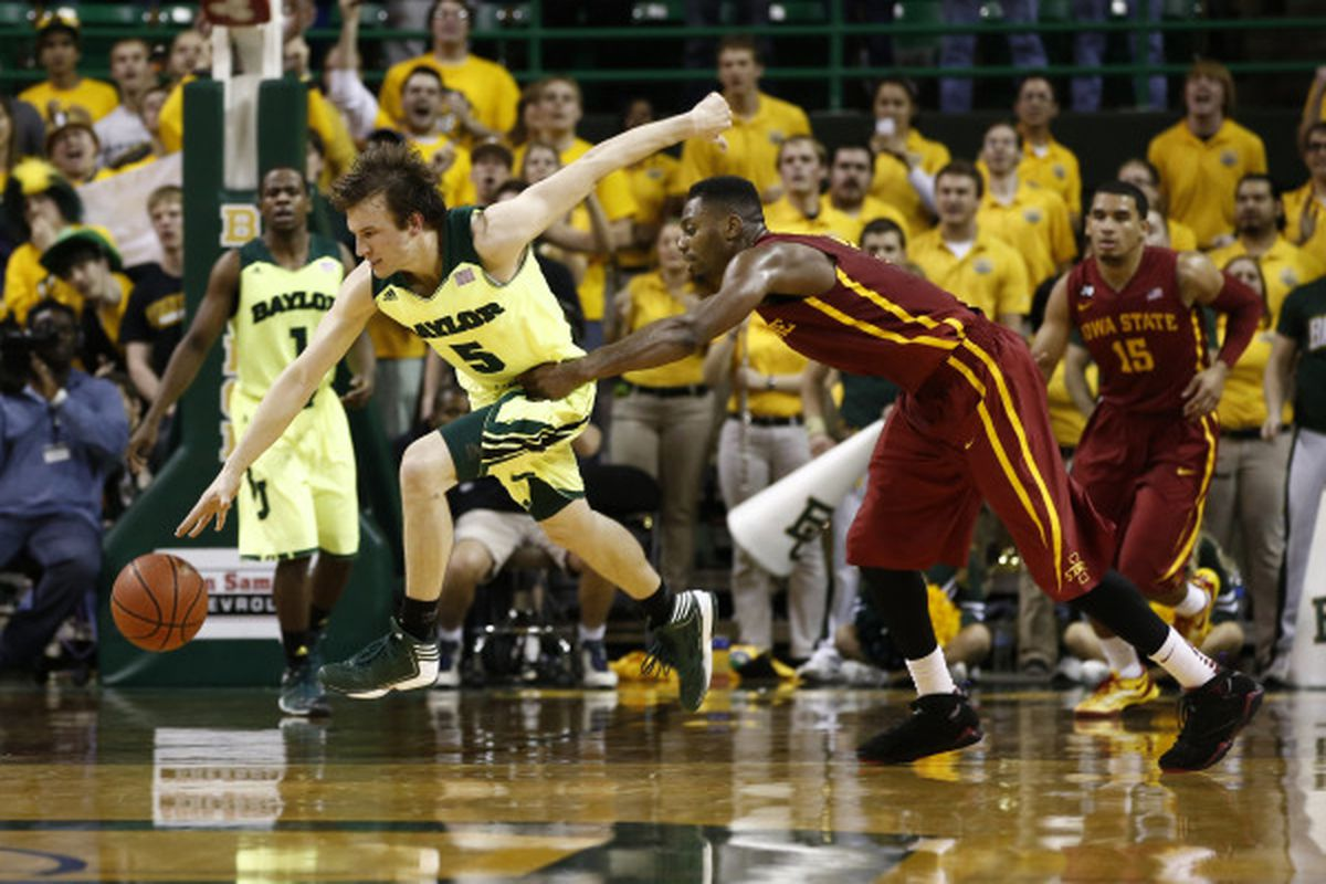 Brady Heslip steals an Iowa State pass because that's what kind of game it was.