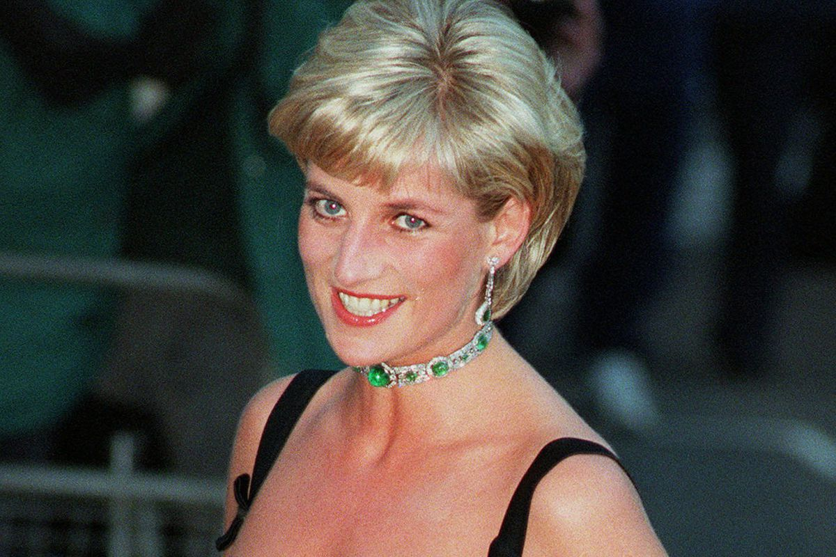 Princess Diana smiles as she arrives at the Tate Gallery London in 1997, for the Centenary Gala honoring the world famous museum.
