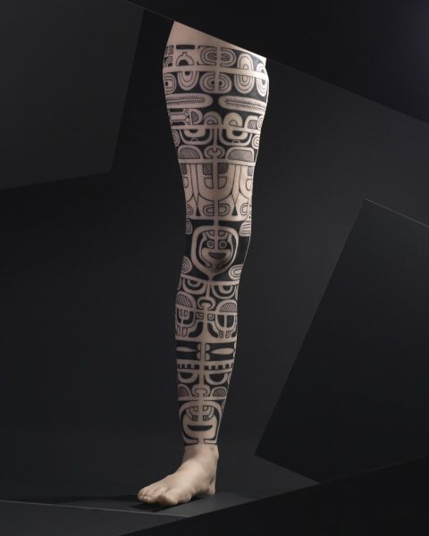 The exhibition includes silicone body parts used to display types of tattoos. | Field Museum photo