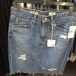 Denim skirt, $49 (was $168)